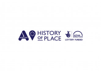 Accentuate, History of Place and HLF logos