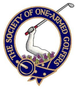 The Society of One Armed Golfers logo